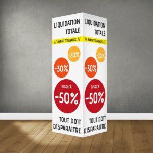 panneau alvéolaire double 80 x 120 cm avec rainurage