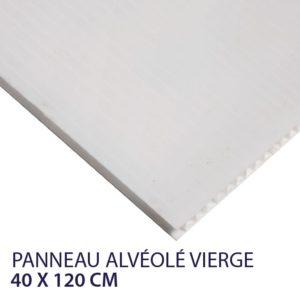 panneau alvéolaire vierge 40 x 120 cm